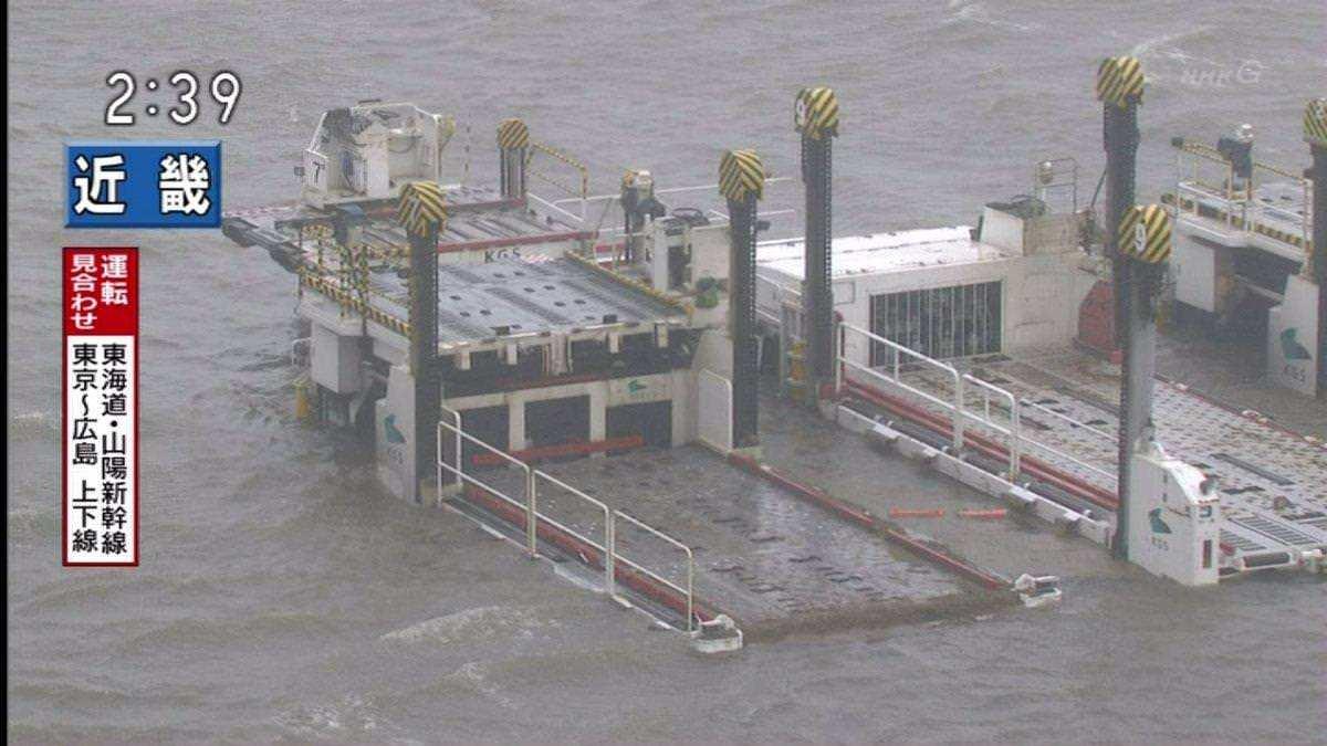 ターミナル施設内の地下に海水が侵入