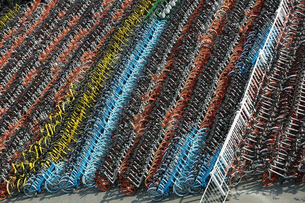 配車会社に分けられた自転車、すごい!