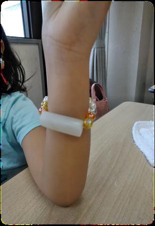 母娘でお揃いの管玉ブレスレットを作りました