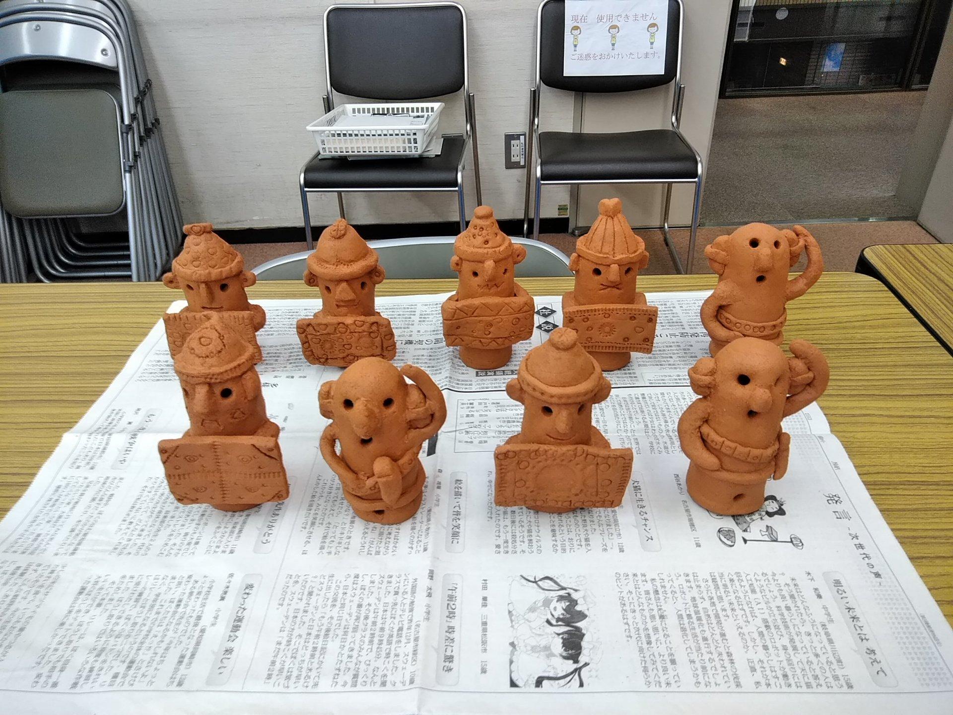 20210801中村図書館埴輪づくり体験