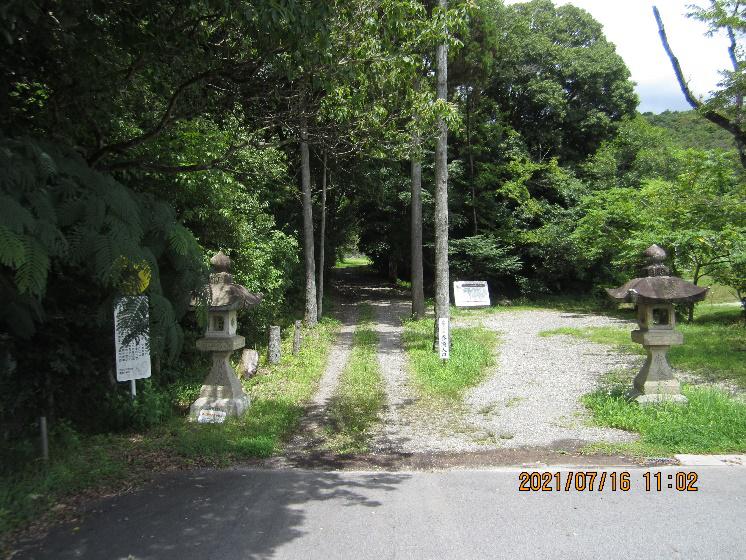 尾張戸神社の南参道入口