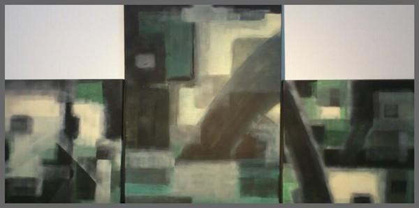 Acryl Trilogie 2mal 50x50cm 1mal 80x60cm