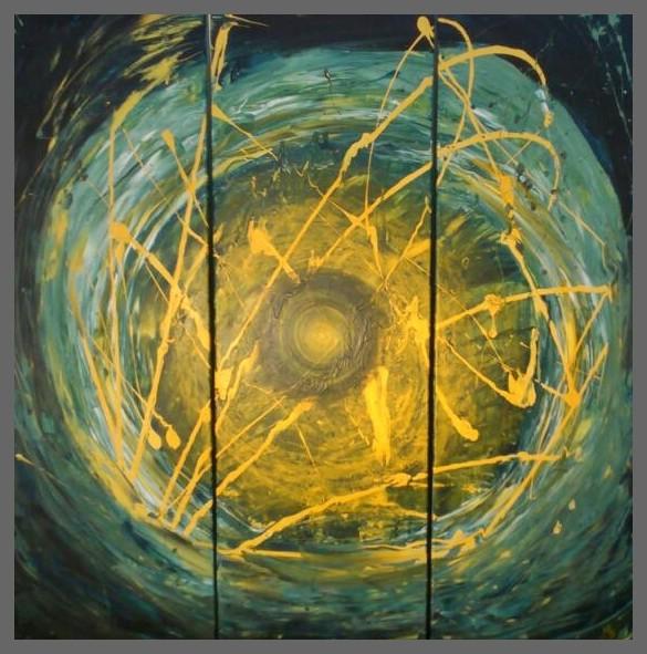 Acryl Trilogie 120x120cm