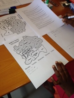 Preparing the week's work in the districts of Kigali