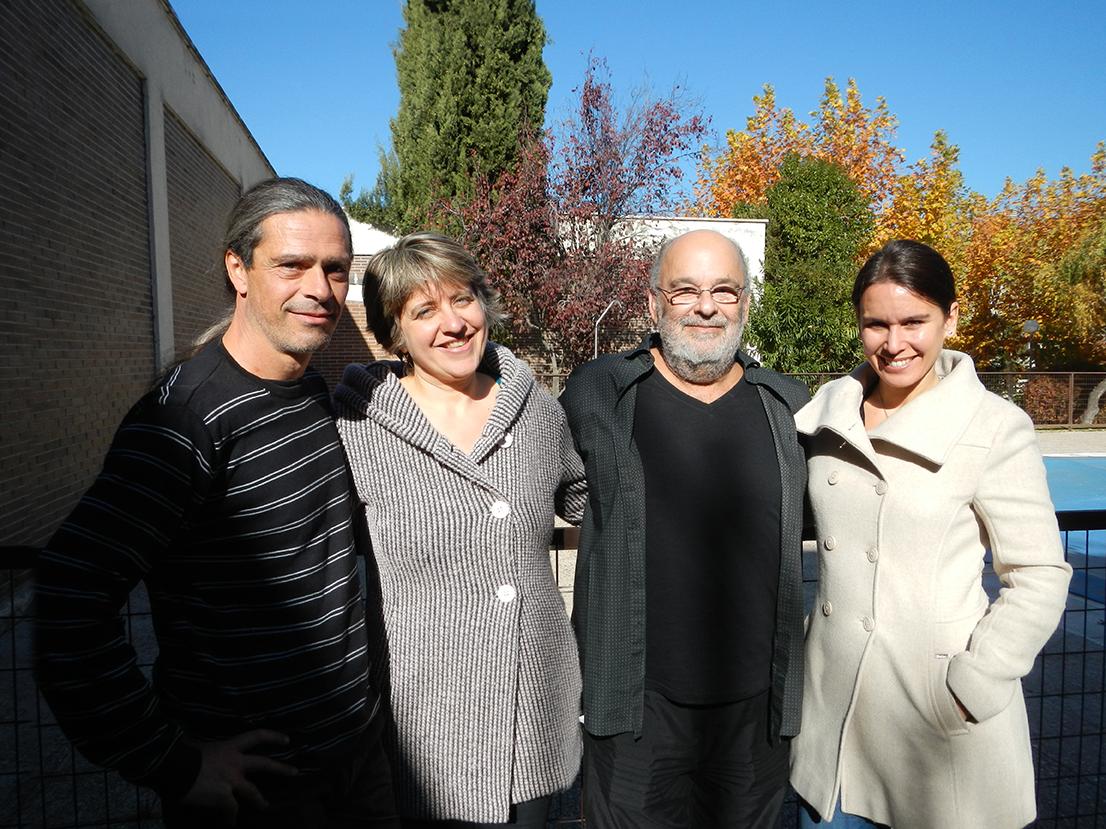 Vassalo (Julio García, Ana Vassalo y Susana Rico) con Jaques Morelenbaum