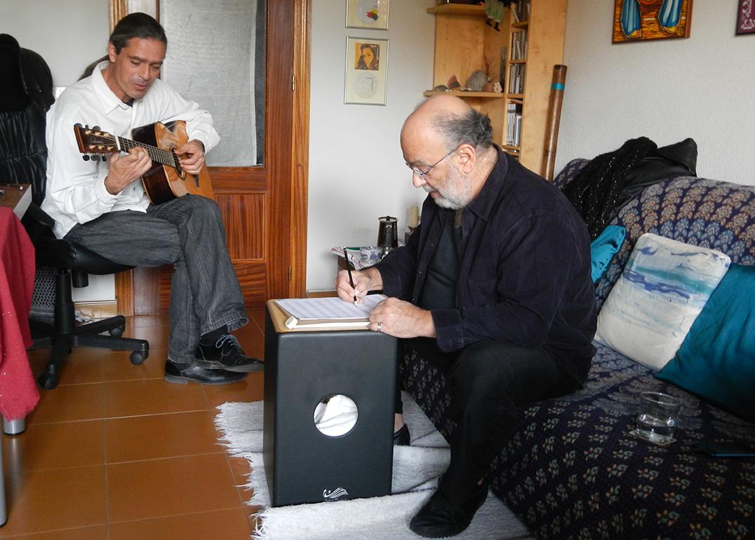 Julio García con Jaques Morelenbaum