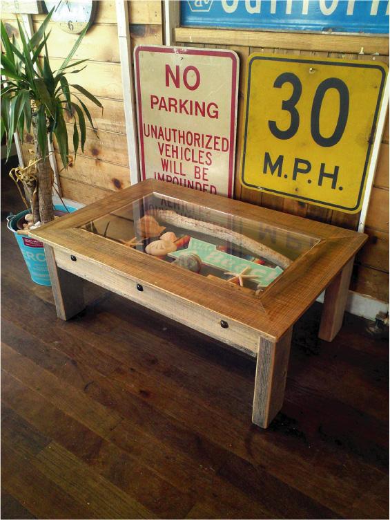 海を感じる西海岸インテリア コレクションテーブル