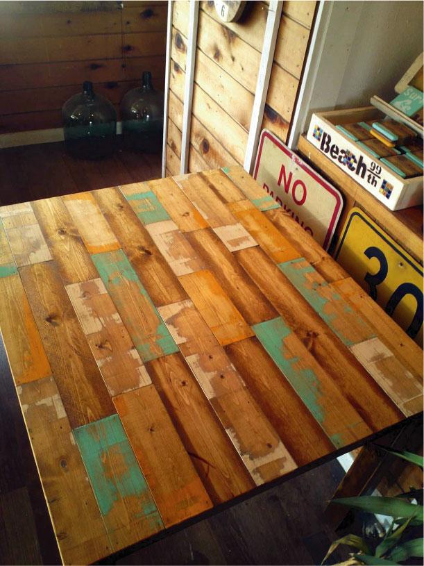 古材家具 廃材家具 海を感じるサーフインテリア