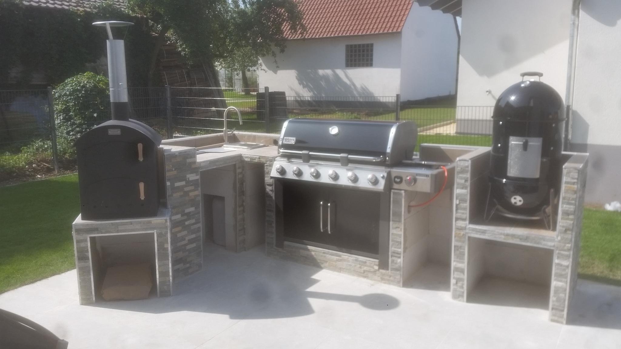 Outdoor Küche Mit Gasgrill Und 4 Brenner Utah : Outdoor küche grill unterschrank küche cm breit weiß mit