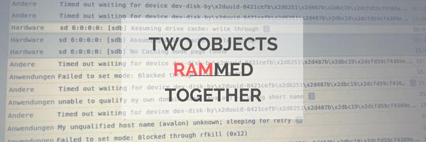 Ein Programm hat verzögert versucht auf einen RAM Block zuzugreifen, doch dieser ist timed out.