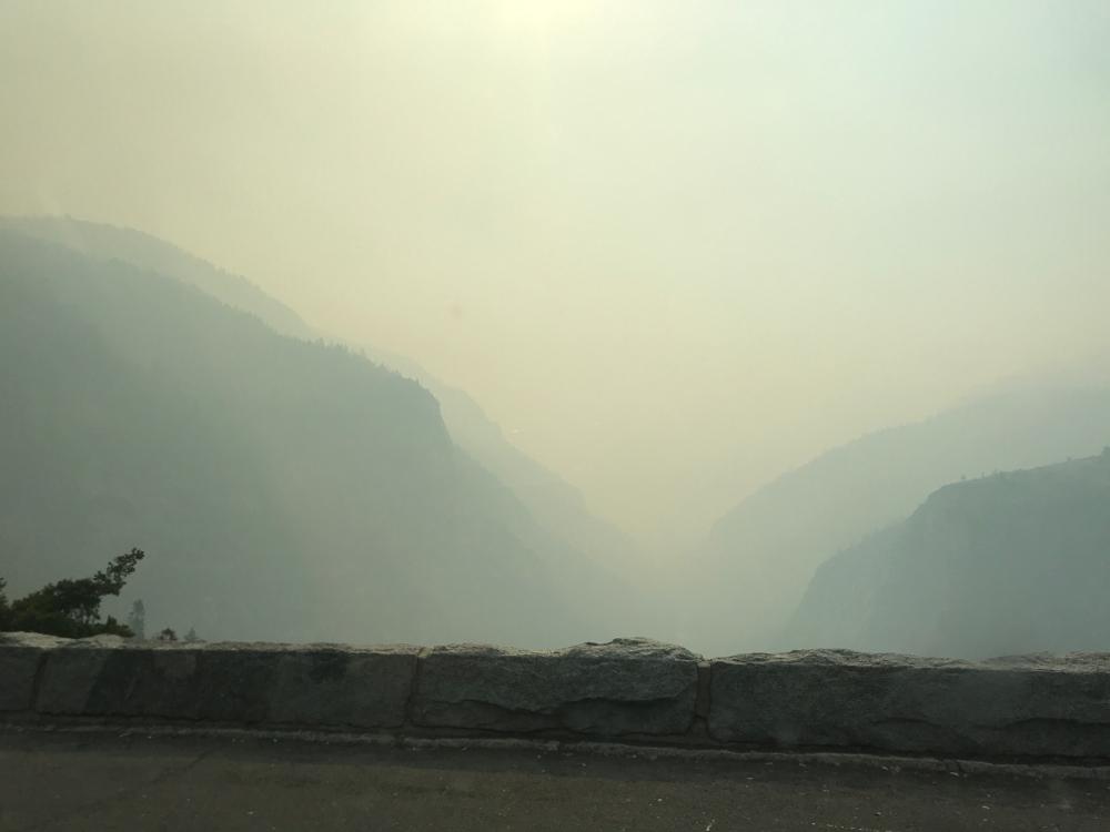 Waldbrand im Yosemite Nationalpark