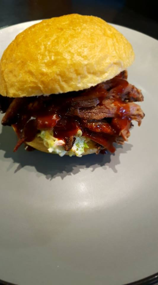 Pulled Beef Burger ALE-X-BBQ