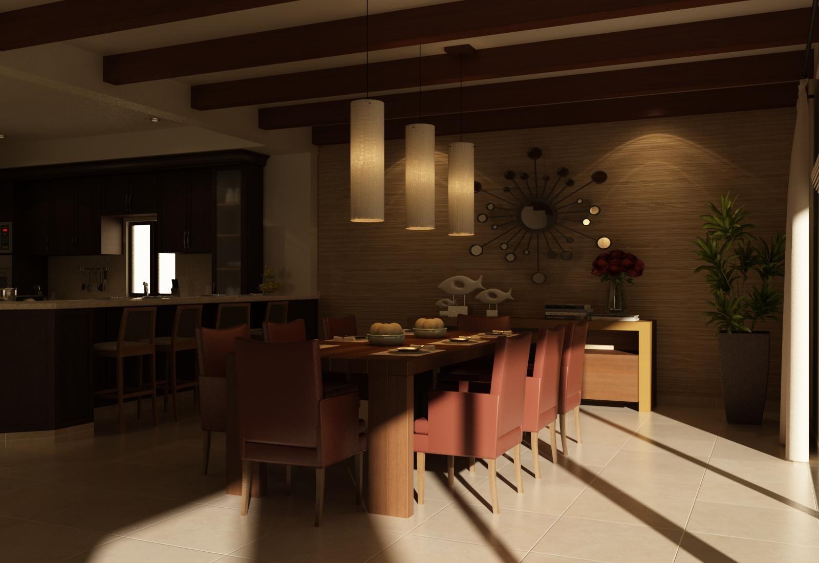 interior cocina-comedor