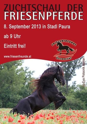Plakat Friesenzuchtschaut Stadl Paura 2013