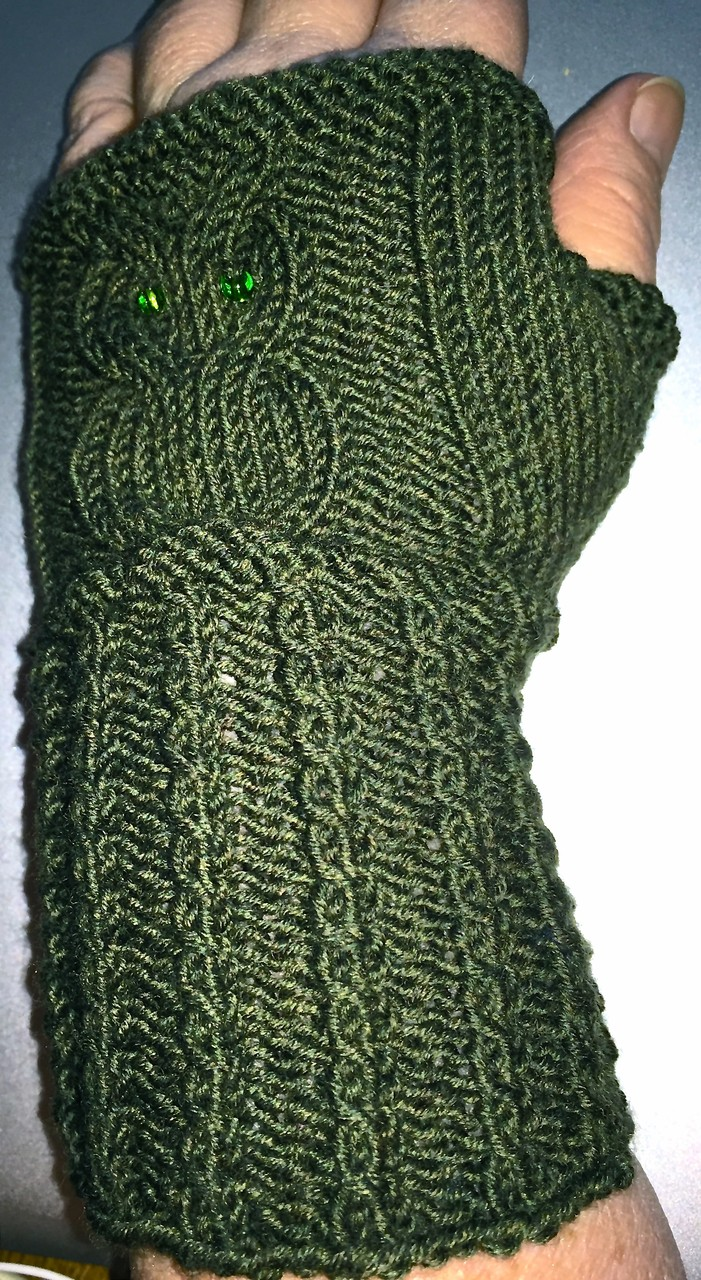 Eulenstulpen Lana Grossa Cool Wool