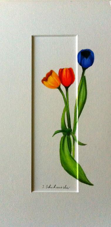 Tulpen auf Passepartout