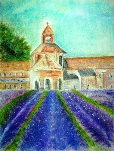 Kloster Sénanque Pastell