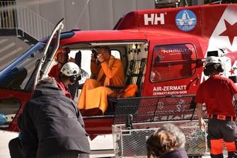 Bruder Markus im Helikopter Dreharbeiten SRF1