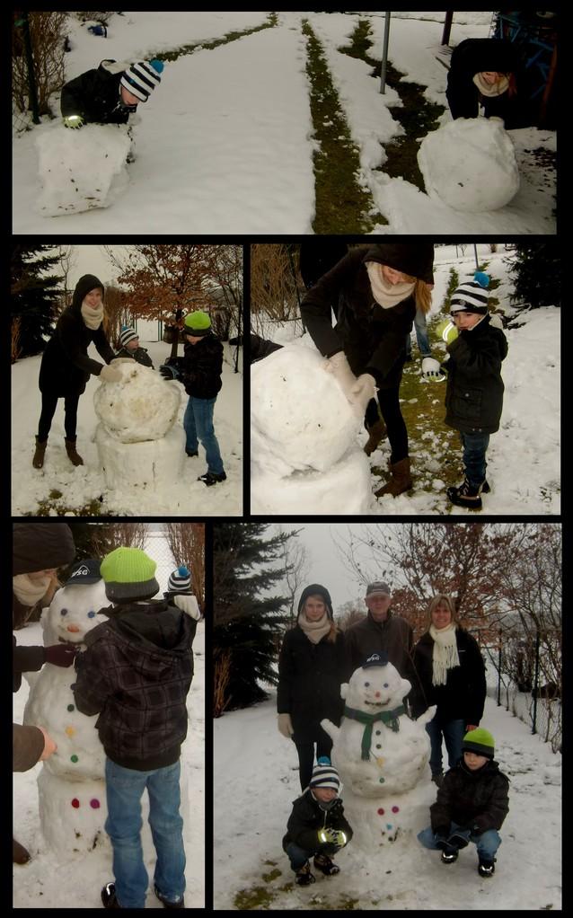 Heute mit den Jungs die tolle Konsistenz des Schnees genutzt & im Garten einen überragenden Schneemann hingeschustert. Hab das Foto gleich mal an meine Gastmama geschickt und sie will mir bald auch noch mehr Bilder von den Kindern zukommen lassen! :)