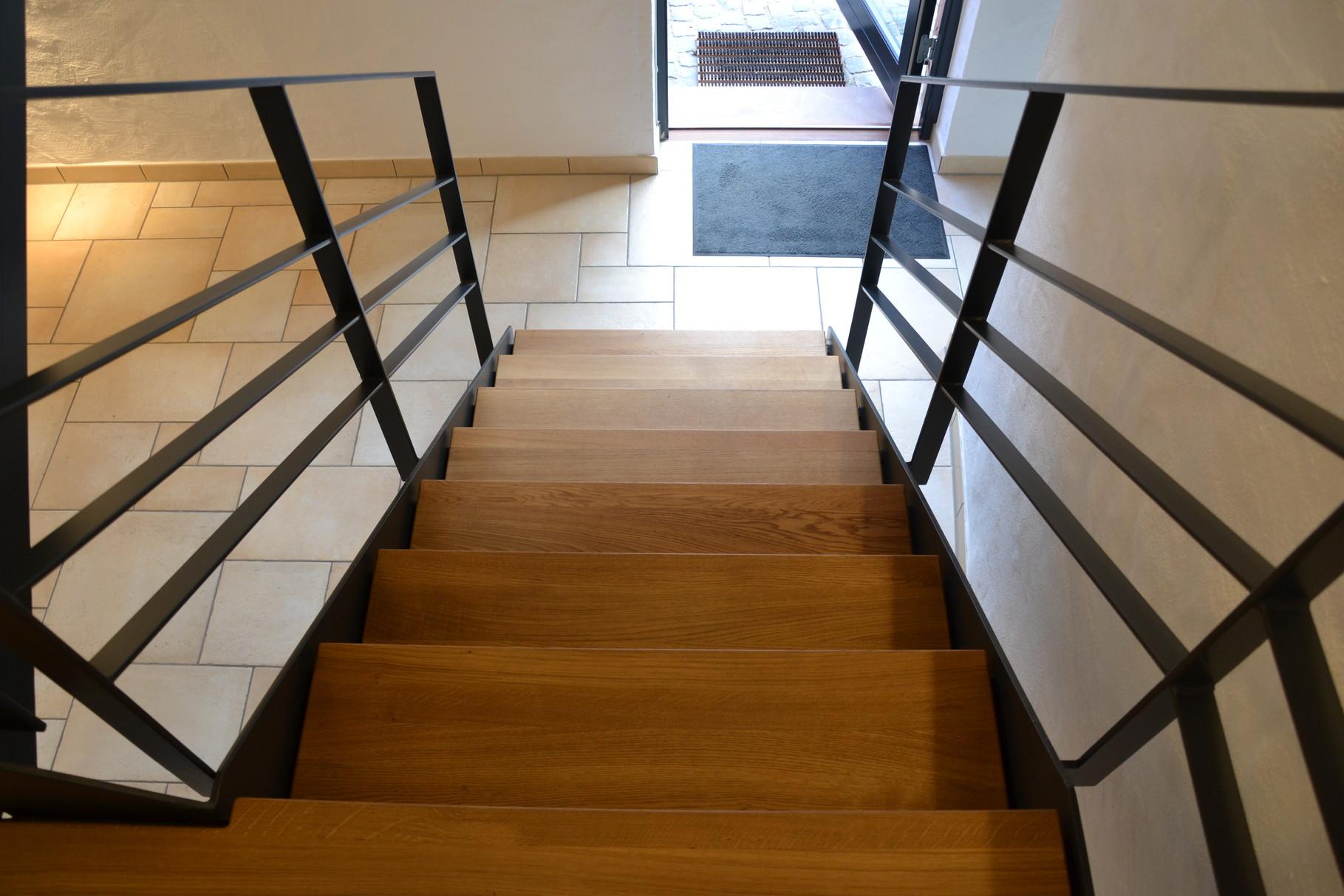 Stufen aus europ. Eichenholz 40 mm stark