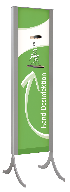 Desinfektionsständer Design +LED grün