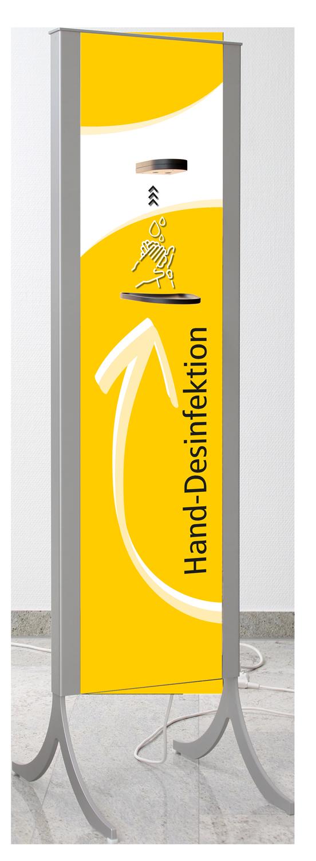 Desinfektionsständer Design in gelb