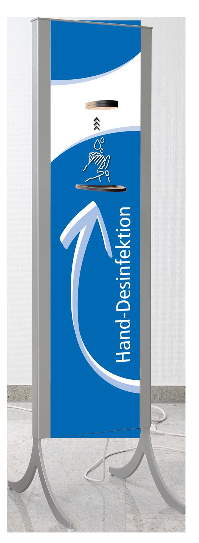 Desinfektionsständer Design in blau