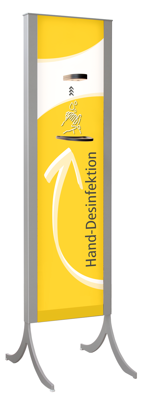 Desinfektionsständer Design +LED gelb