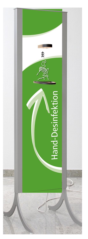 Desinfektionsständer Design in grün
