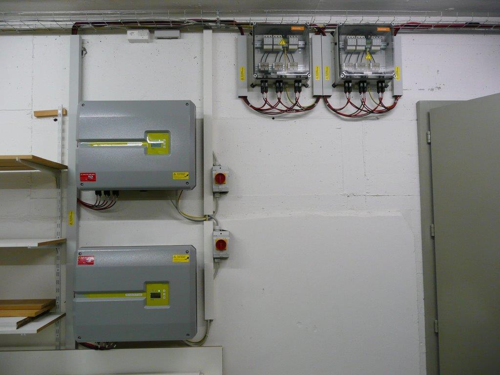 GAK und Wechselrichter im Untergeschoss