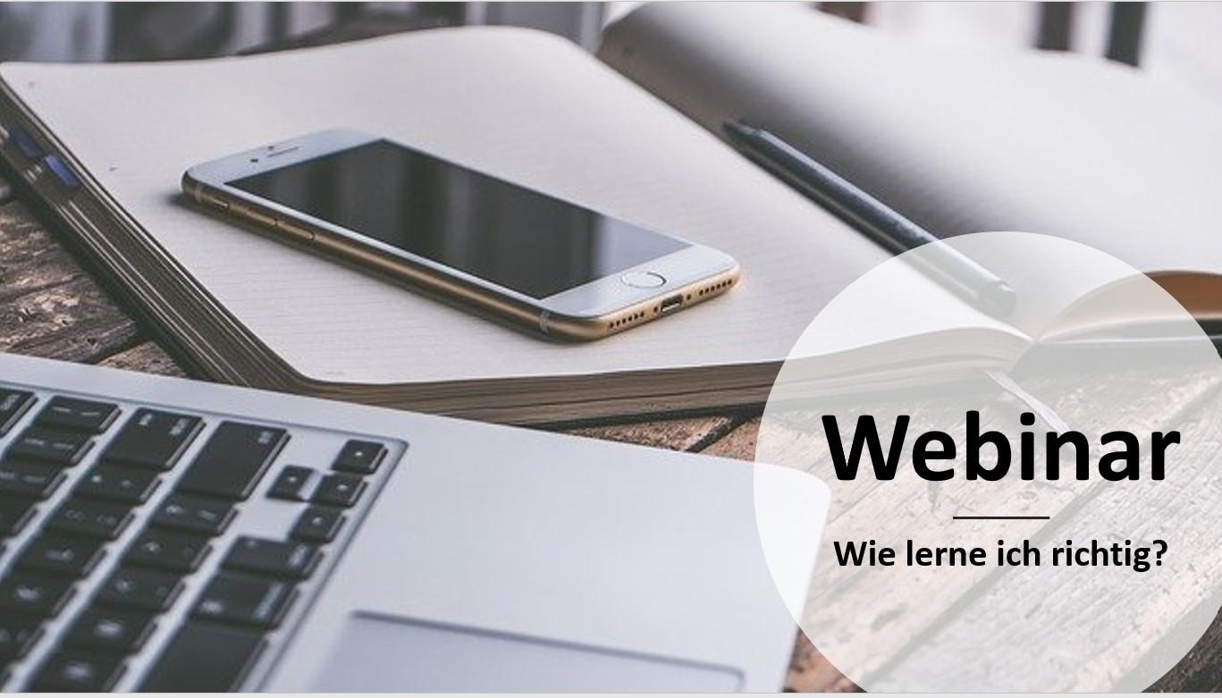 """Webinar """"Wie lerne ich richtig"""""""