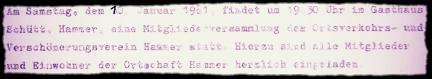 Zeilen aus der Einladung zur Versammlung am 10.1.1981