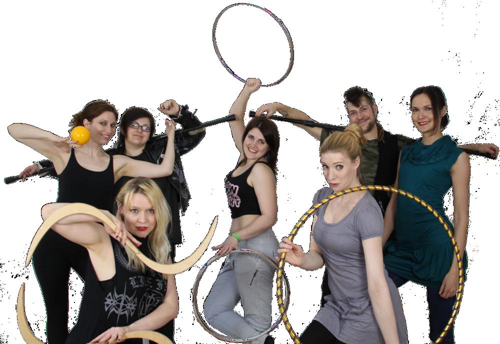 Expelled Circus Gruppenbild Hula-Hoop