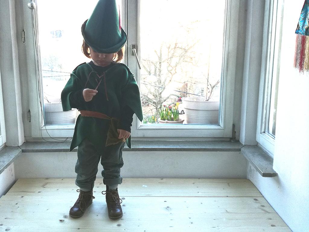 D.I.Y. Kostüm für Peter Pan, Kinder-Kostüm, Anleitung