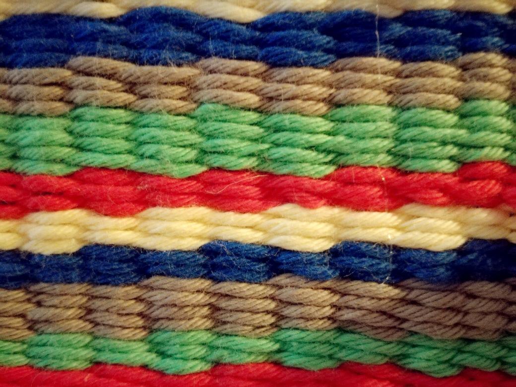 D.I.Y.  Lama Laterne bunter Teppich, gewebt