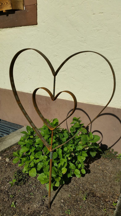 Gartenstecker Double Love