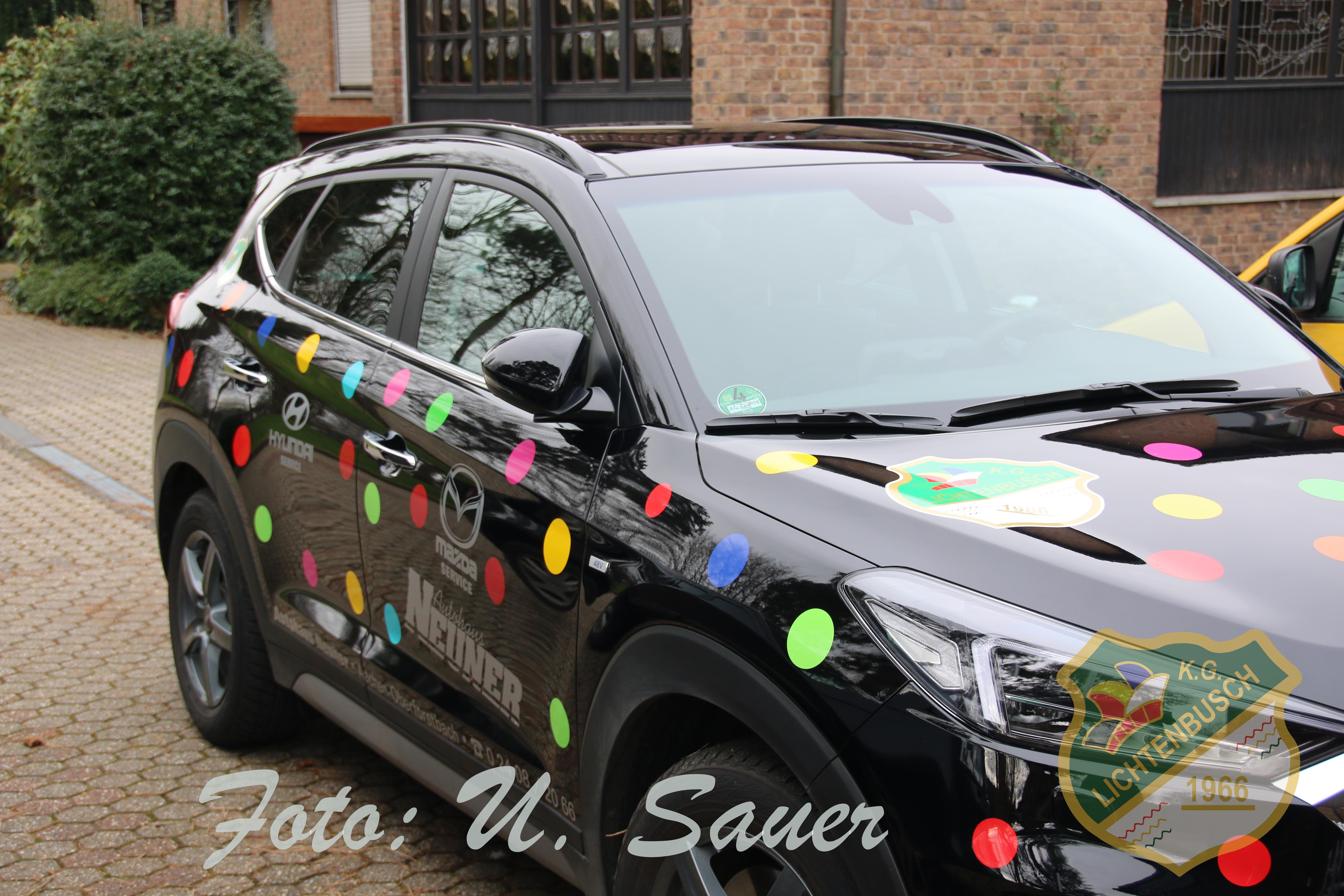 Das Dreigestirnsauto 2020, mit dem unser Dreigestirn sicher und bequem von Auftritt zu Auftritt kommt. Mit freundlicher Unterstützung vom Autohaus Neuner.
