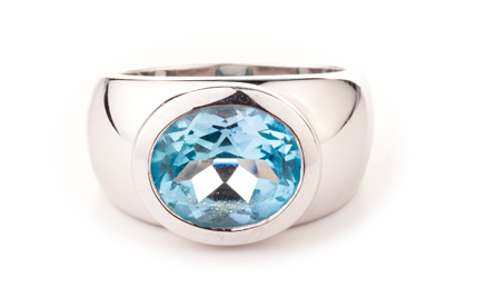 Blautopas, swiss, Sterling Silber                  € 578,00