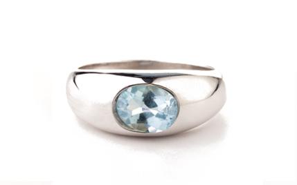 Aquamarin, med,fac, Sterling Silber                        €  589,00