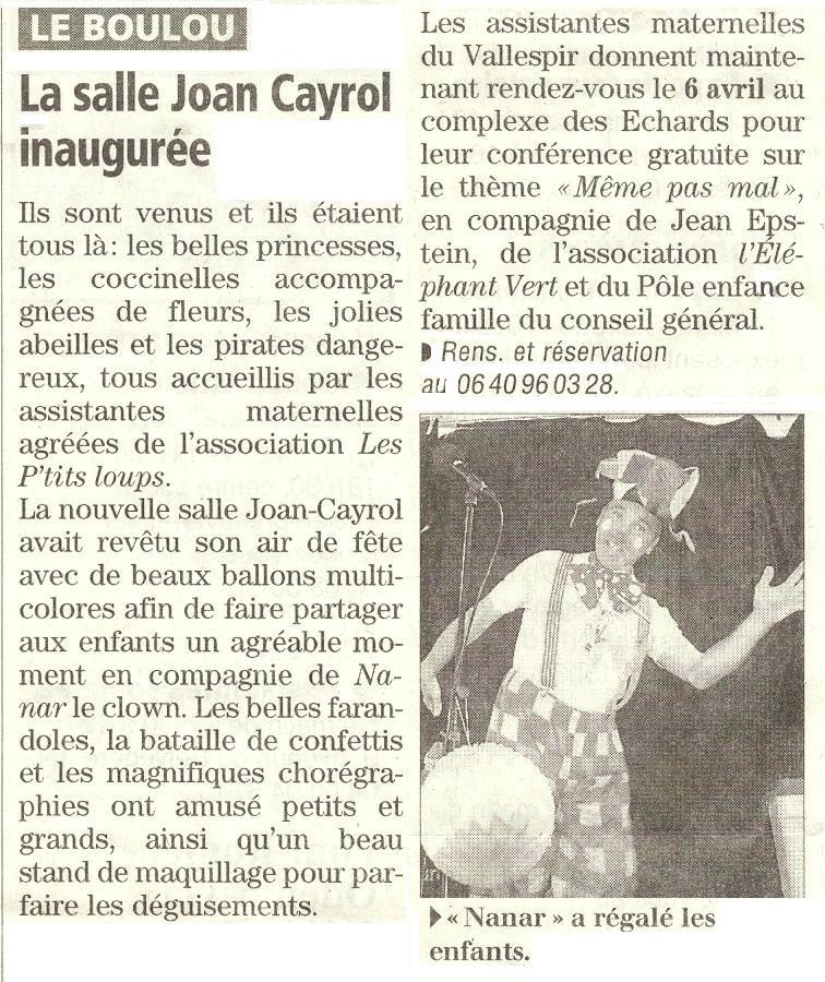 Le Boulou mars 2013