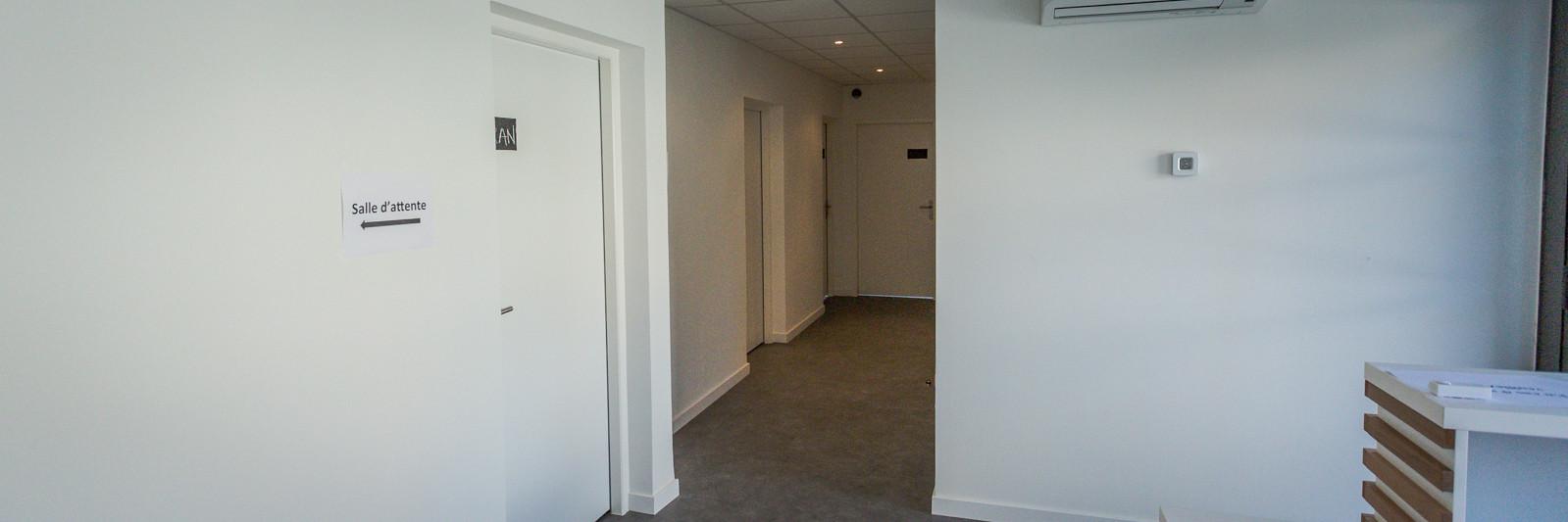 Groupe médical Ovalie à Montpellier - Hall d'accueil des patients