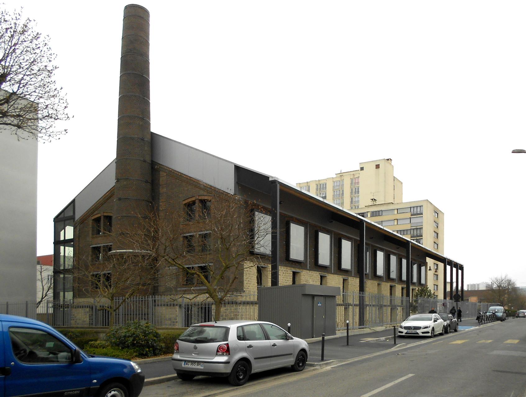 la Briqueterie / côté rue : vue d'ensemble du bâtiment /  © in-folio paysagistes