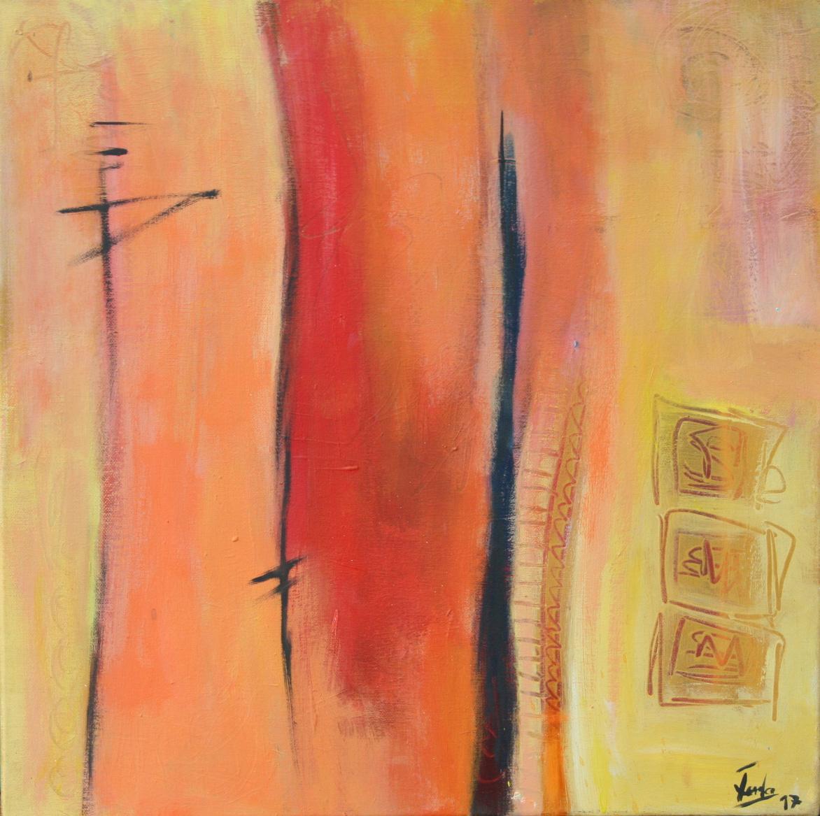 Ein Hauch von Orient III, Öl und Acryl auf Leinwand, 50 x 50 cm