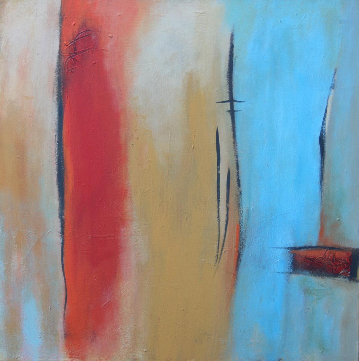 Wo ist das Meer I, Öl und Acryl auf Leinwand, 60 x 60 cm