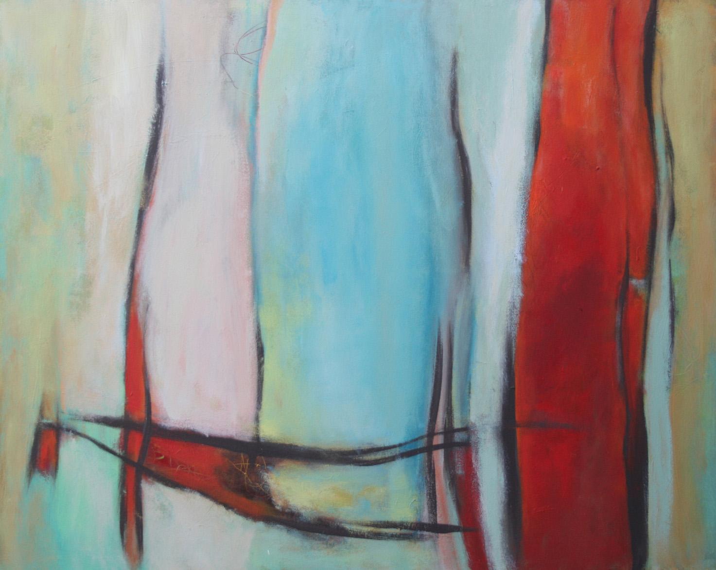 Wo ist das Meer?, Öl und Acryl auf Leinwand, 80 x 100 cm