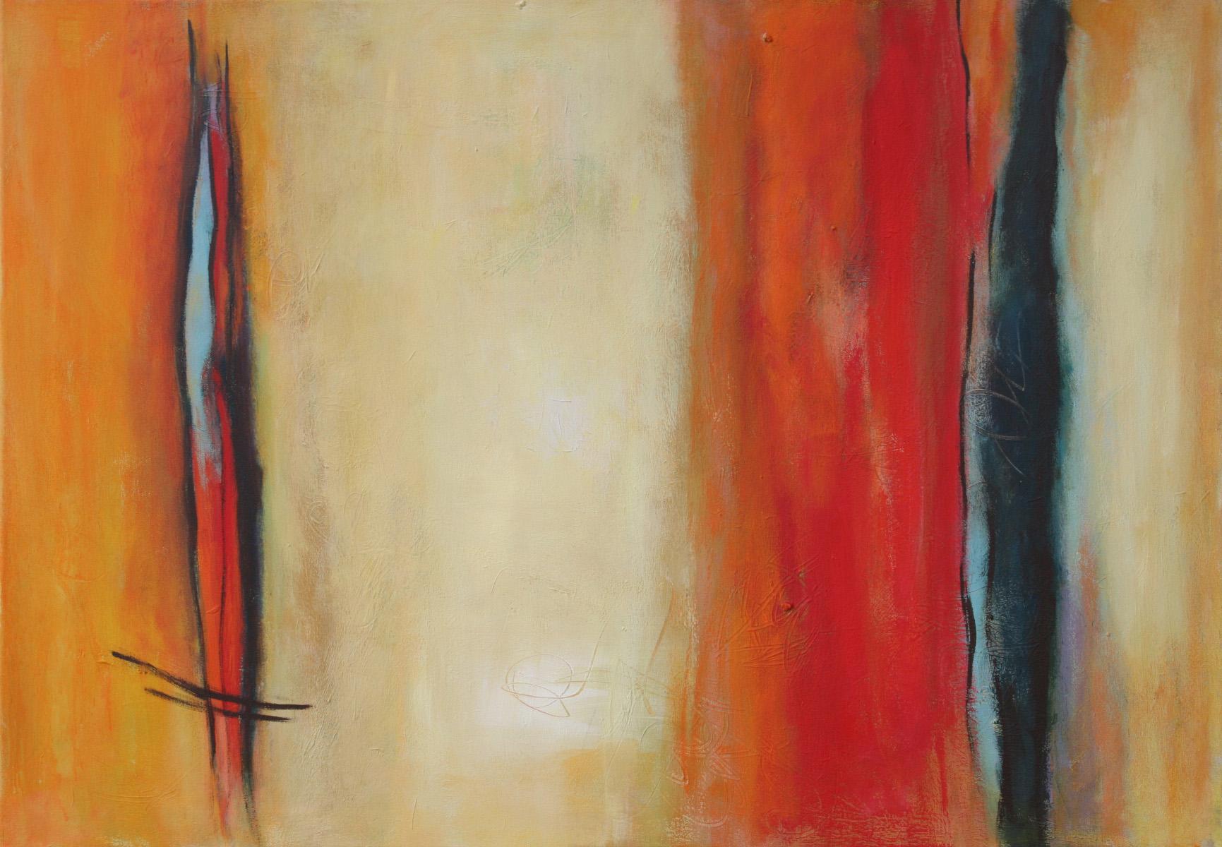 Silence I, Öl und Acryl auf Leinwand, 70 x 100 cm