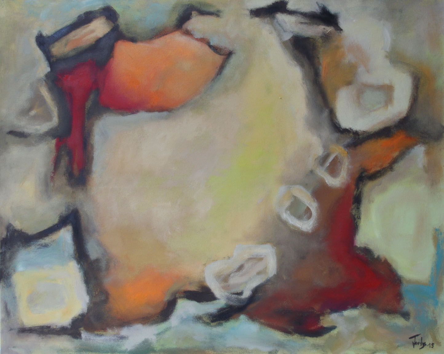 Losgelöst, Öl und Acryl auf Leinwand, 80 x 100 cm