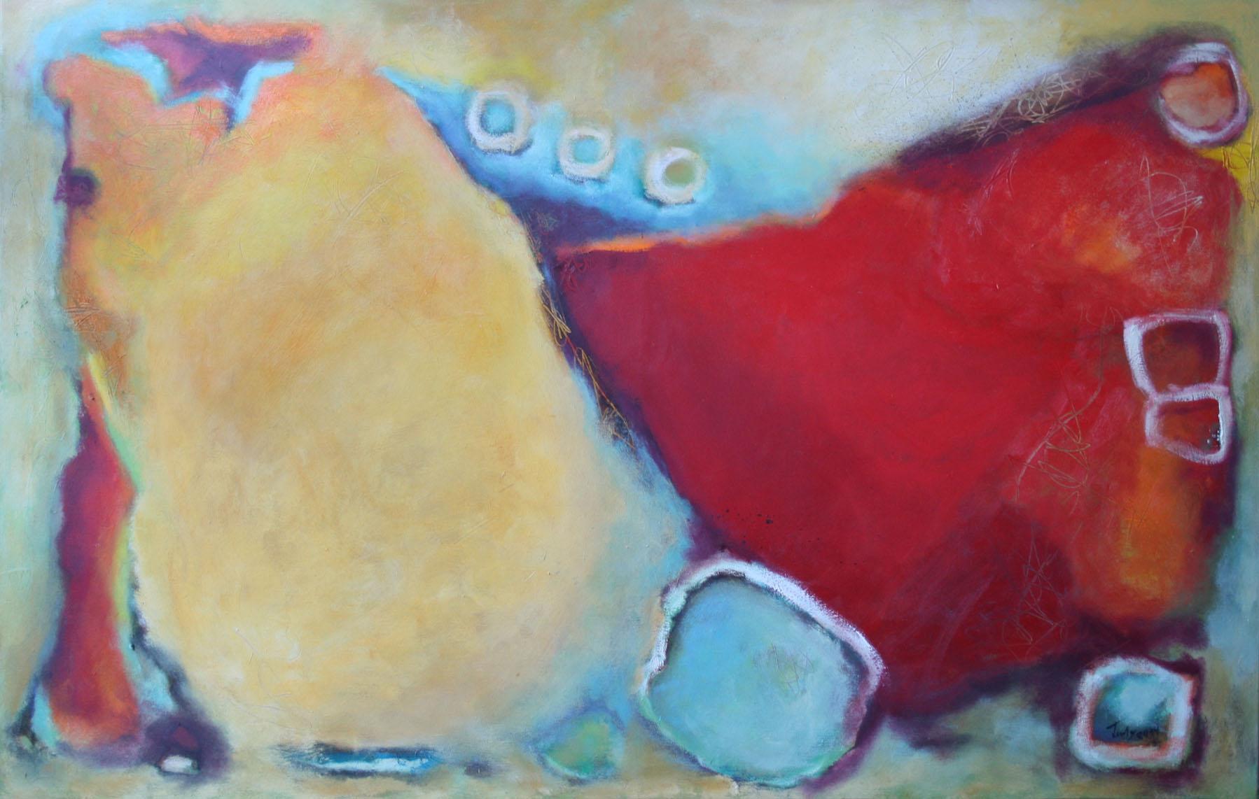 Ohne Titel, Öl und Acryl auf Leinwand, 90 x 140 cm