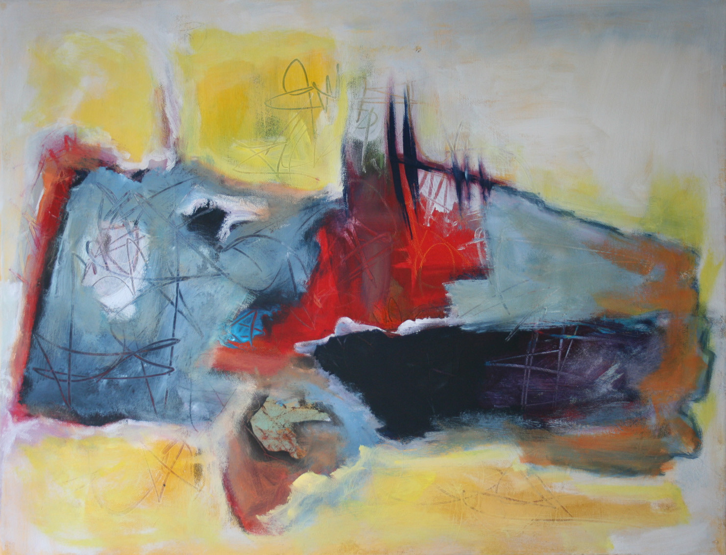Freiheit II, , Öl und Acryl auf Leinwand, 58 x 76 cm