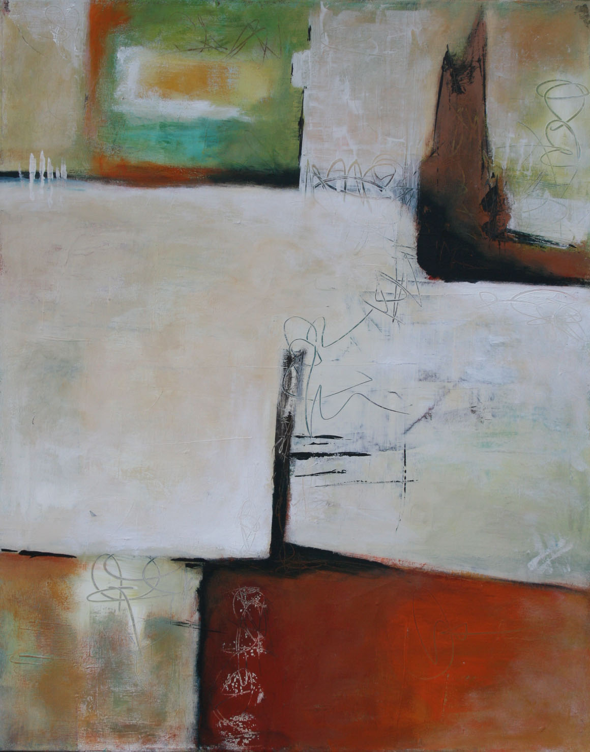 Ohne Titel 1705, Öl und Acryl auf Leinwand, 100 x 80 cm